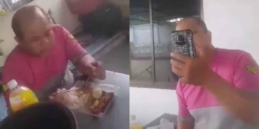 Gara-gara makan dalam kedai tanpa izin, rider Foodpanda dimaki dan dihalau pemilik premis