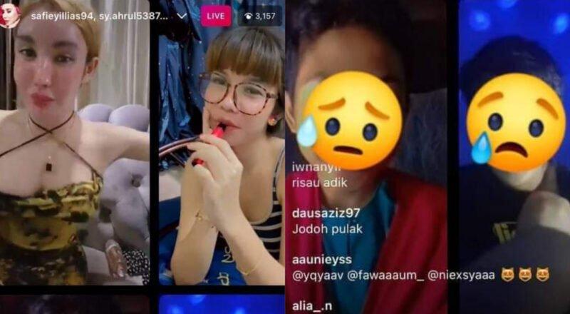 Tular Safiey Ilias 'live' di IG bersama 2 kanak-kanak lelaki sambil goyang payudara, netizen desak JAKIM ambil tindakan tegas