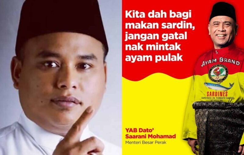 Poster fitnah dan dakwa Saarani angkuh, Pemuda UMNO Perak buat laporan polis
