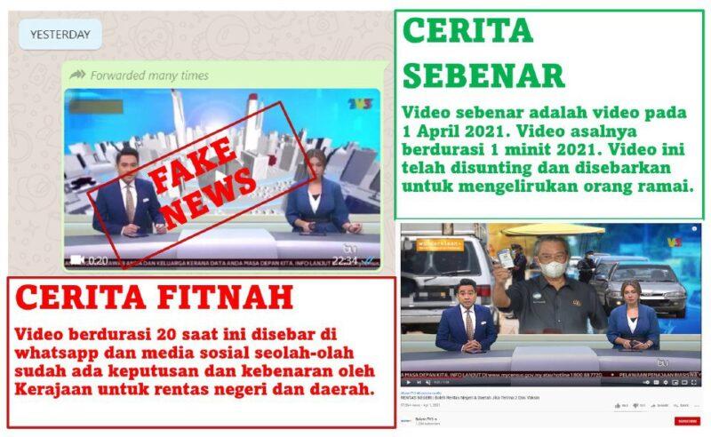 """""""Cerita fitnah"""" – KKM menafikan klip video tular dakwa kerajaan benarkan rentas sempadan"""