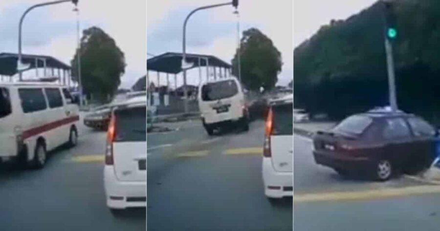 Tular video ambulans rempuh Wira, polis jalankan siasatan